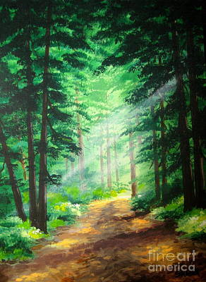 Disney Artist Painting - Old  Road  by Shasta Eone