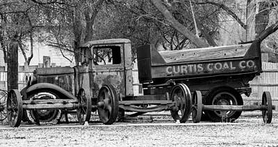 Old Trucks Photograph - Old Rusty Coal Delivery Truck  by Gary Whitton