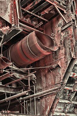 Old Rusty Pipes Print by Paul Ward