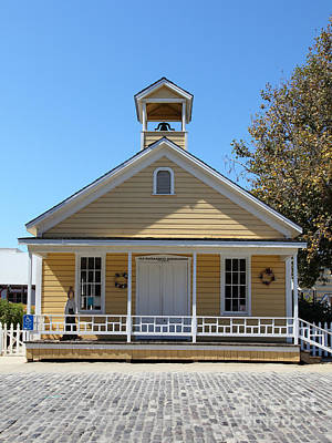 Old Schoolhouse Photograph - Old Sacramento California Schoolhouse 5d25543 by Wingsdomain Art and Photography