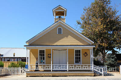 Old Schoolhouse Photograph - Old Sacramento California Schoolhouse 5d25544 by Wingsdomain Art and Photography