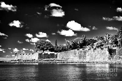 Old San Juan In Black And White Print by John Rizzuto