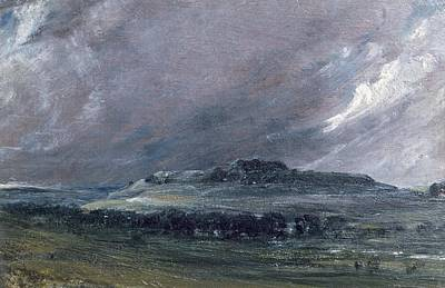 Old Sarum Print by John Constable