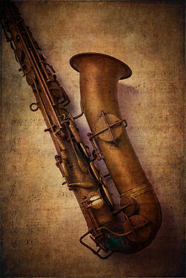 Old Objects Photograph - Old Sax by Garry Gay