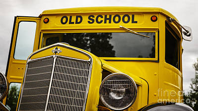 Old School Bus Photograph - Old School by Dennis Hedberg