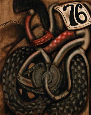 Bicycle Painting -  Bmx Racing Bike Art Print by Tommervik
