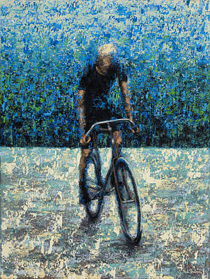 Bike Riding Painting - Old School Riding by Ned Shuchter