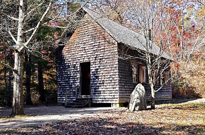 Old Schoolhouse Building Print by Susan Leggett