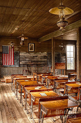 Dallas Photograph - Old Schoolroom by Inge Johnsson