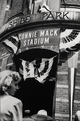 Baseball. Philadelphia Phillies Photograph - Old Shibe Park - Connie Mack Stadium by Bill Cannon