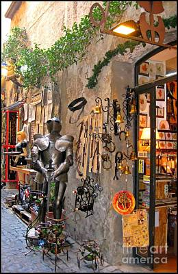 Old Shop In Greece Print by John Malone