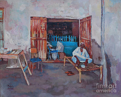 Painting - Old Shop Suakin by Mohamed Fadul