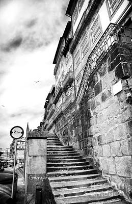 Old Stairs In Porto Print by John Rizzuto