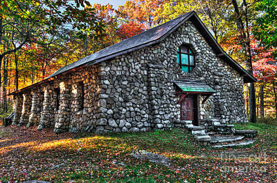 Old Stone Lodge Print by Anthony Sacco
