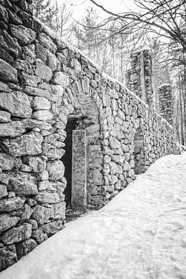 Destruction Photograph - Old Stone Ruins  by Edward Fielding