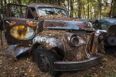 Old Studebaker Truck Print by Debra and Dave Vanderlaan