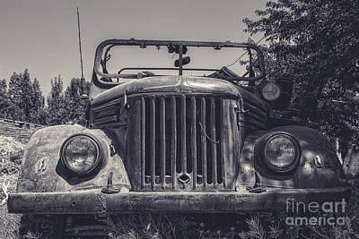 Gaz Photograph - Old Tajik Jeep by Emily Kay