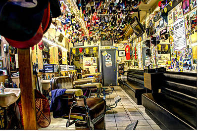 Barberchair Photograph - Old Time Downtown Barbershop by Jon Berghoff