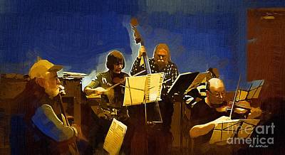 Old Time Music Print by RC deWinter