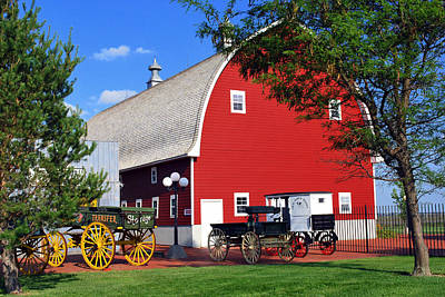 Barn Photograph - Old Time Town And Historic Barn by Gregory Ballos