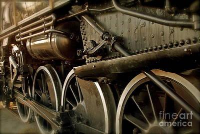 Locomotive Wheels Photograph - Old Timer by Rick  Monyahan