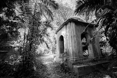 Old Tomb At Cemetery In Calcutta Print by BJ Graf