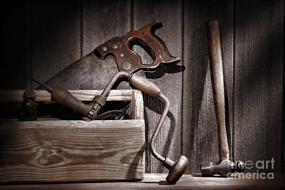 Hammer Photograph - Old Tools by Olivier Le Queinec