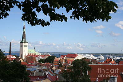 Habor Photograph - Old Town And Harbor - Tallinn by Christiane Schulze Art And Photography