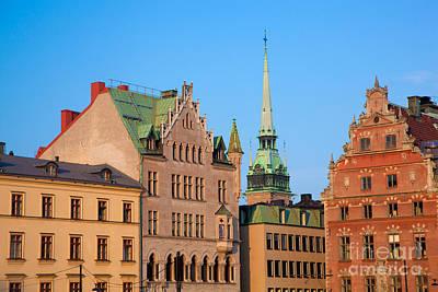 Stockholm Photograph - Old Town Buildings In Stockholm by Michal Bednarek