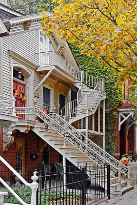 Townhouses Photograph - Old Town Chicago Living by Christine Till
