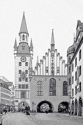 Old Town Hall - Munich - Germany Print by Christine Till