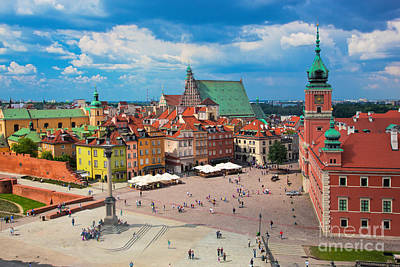 Columns Photograph - Old Town In Warsaw Poland by Michal Bednarek