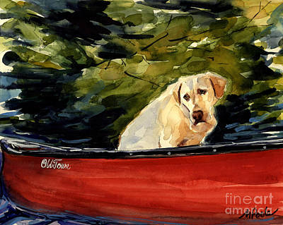 Canoe Painting - Old Town by Molly Poole