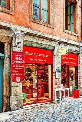 Lyon France Photograph - Old Town Of Lyon 2 by Mel Steinhauer