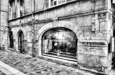 Lyon France Photograph - Old Town Of Lyon 4 Bw by Mel Steinhauer