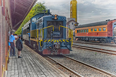 Locomotives Photograph - Old Town Sacramento Railroad by Jim Thompson