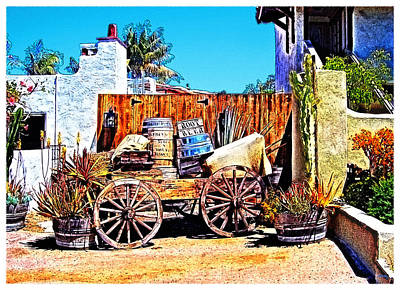 Sand Fences Digital Art - Old Town San Diego by Glenn McCarthy Art and Photography