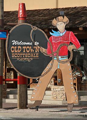 Elizabeth Rose Photograph - Old Town Scottsdale Cowboy Sign by Elizabeth Rose