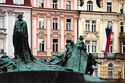 Prague Photograph - Old Town Square Colors by John Rizzuto