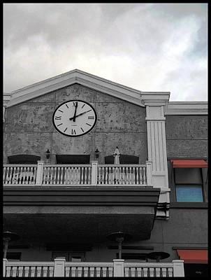 Old Town Temecula - The Clock Print by Glenn McCarthy
