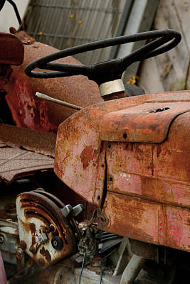 Financial Mixed Media - Old Tractor by Doc Braham