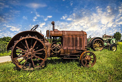 Old Country Roads Photograph - Old Tractors by Debra and Dave Vanderlaan