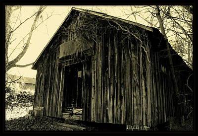 Old Train Depot Print by Lisa Wooten