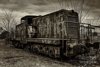Train Mixed Media - Old Train  by Marvin Blaine