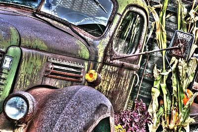 Automotive Photograph - Old Truck Autumn by Michael Allen