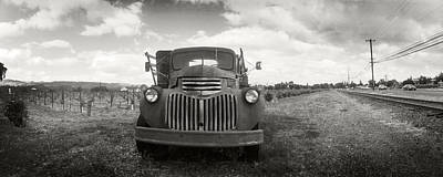 Napa Valley And Vineyards Photograph - Old Truck In A Field, Napa Valley by Panoramic Images