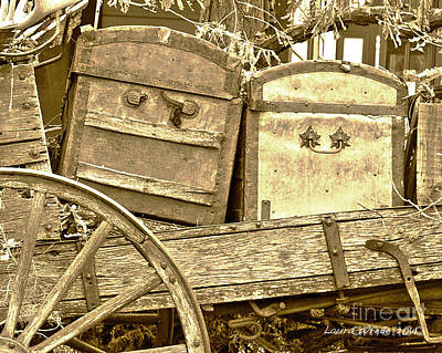 Old Trunks In Genoa Nevada Print by Artist and Photographer Laura Wrede
