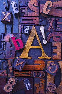 Old Typesetting Fonts Print by Garry Gay