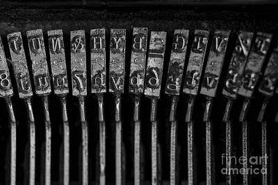 Typewriter Keys Photograph - Old Typewriter Keys by Edward Fielding