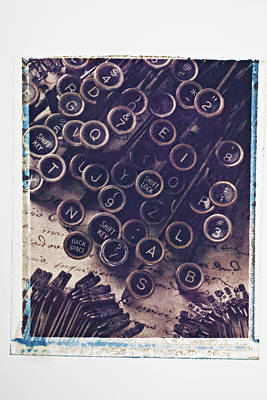 Typewriter Keys Photograph - Old Typewriter Keys by Garry Gay